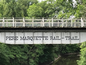 Pere Marquette Rail-Trail Maintenance Work