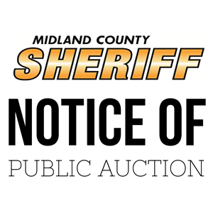 NOTICE OF PUBLIC AUCTION